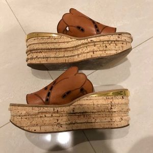 CHLOE Camille Wedge Sandals